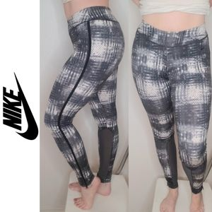 Nike Printed Leggings with Side Zippers an…